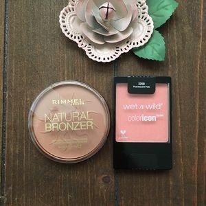 Rimmel Natural Bronzer & Wet N Wild Blush